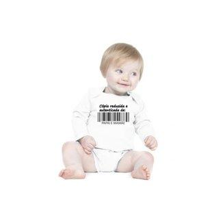c2b9c2dd12 Body Bebê Frases Engraçadas e Divertidas Cópia de Papai e Mamãe Manga Longa  Criativa Urbana
