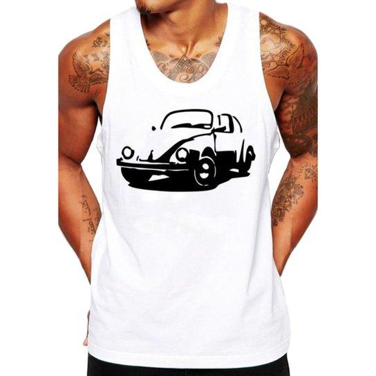 3a2d9717f1 Camiseta Regata Criativa Urbana Fusca Carro Antigo Clássico - Branco ...
