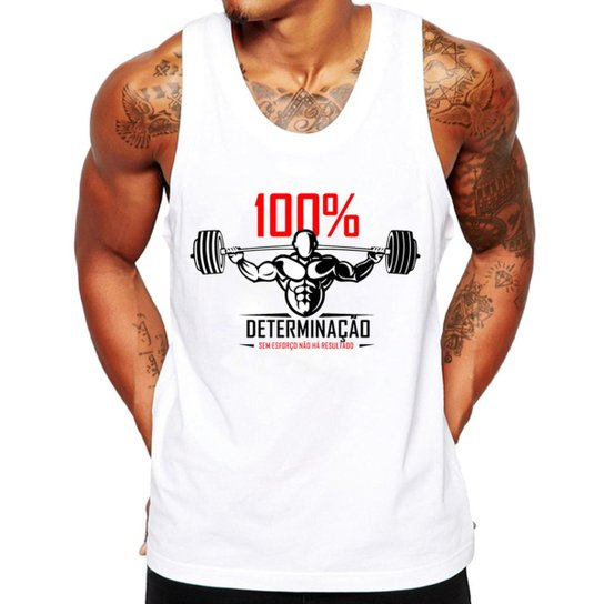 17dcc851ef2b3 Camiseta Regata Criativa Urbana Fitness Academia Frases - Branco ...