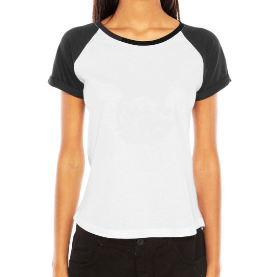 Camiseta Raglan Criativa Urbana Lisa - Branco - Compre Agora  2a2f0b710446a