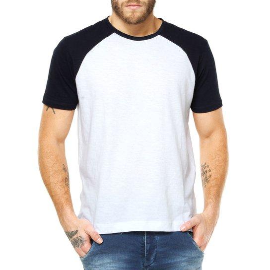 436b13f882 Camiseta Raglan Criativa Urbana Lisa Básica - Branco
