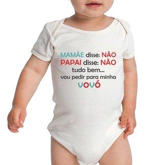 Body Criativa Urbana Bebê Frases Engraçadas Vou Pedir Pra Vovó Vó ad4f43b9783