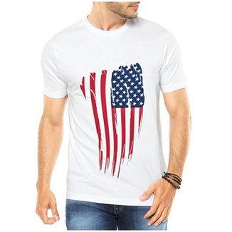 ec3f1b781a Camiseta Criativa Urbana Bandeira EUA USA
