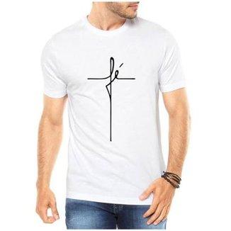 Camiseta Criativa Urbana Fé Religiosa Masculina a2f9c1ff3591c