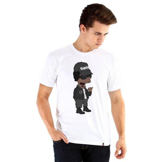 c7bd3321f Camiseta Ouroboros Manga Curta Eazy-E X Simpsons Masculina - Branco ...
