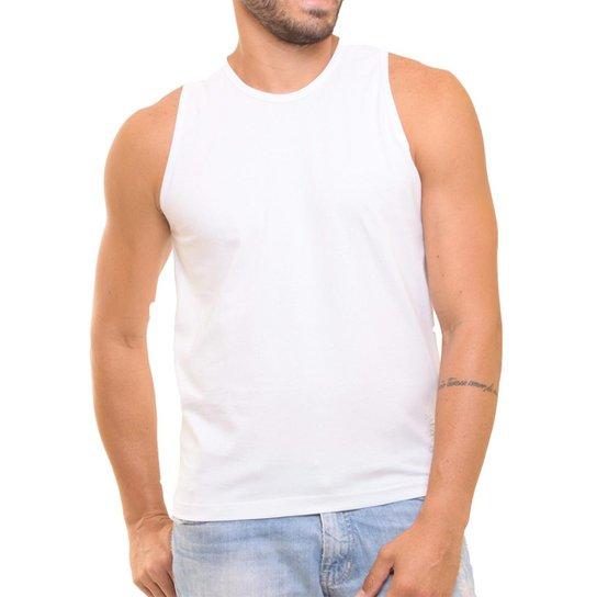 Camiseta Regata Masculina Oitavo Ato Lisa Básica Mescla - Branco ... de4e603cde6