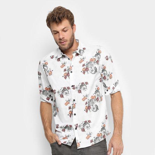 Camisa MCD Flower Fish Manga Longa Masculina - Compre Agora   Netshoes 8669028cdb