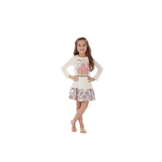 0e4f02c62 Camisola Manga Longa Infantil Hello Kitty - Branco - Compre Agora ...