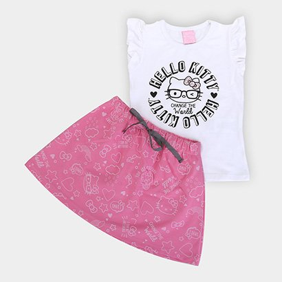 Conjunto Infantil Hello Kitty Change The World Feminino