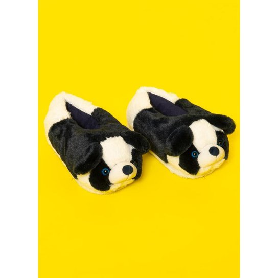3080fafc11 Pantufa de Pelúcia Infantil Puket Panda Feminina - Branco
