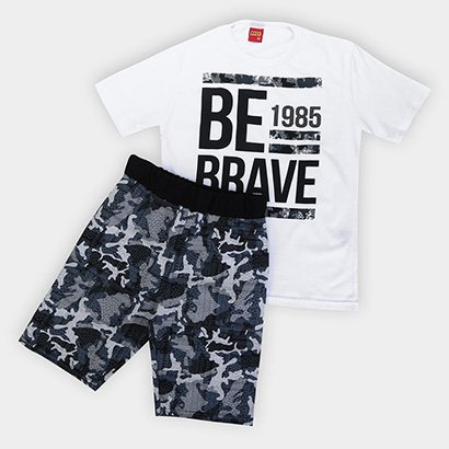 Conjunto Infantil Kyly Camiseta + Bermuda Estampado Masculino