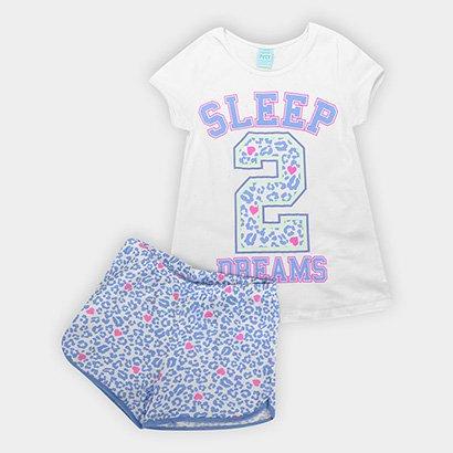 Pijama Infantil Kyly Brilha No Escuro Number