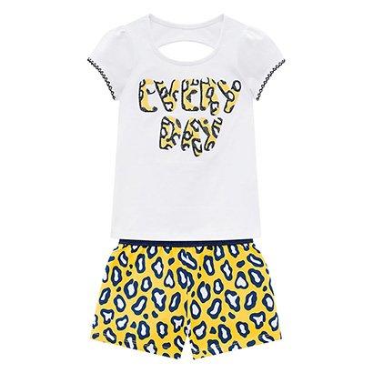 Conjunto Infantil Kyly Blusa E Short Everyday Feminino
