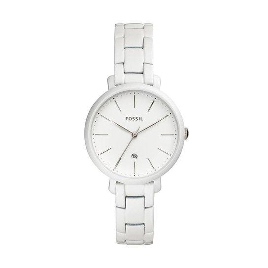 b9e49fae8ba1ff Relógio Fossil Feminino Jacqueline Prata - ES4397/1BN ES4397/1BN - Branco
