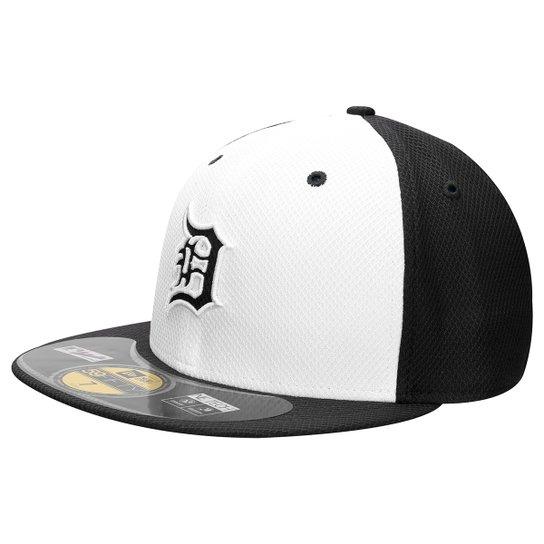 d4fc99aea7e72 Boné New Era 5950 MLB Detroit Tigers - Branco+Marinho