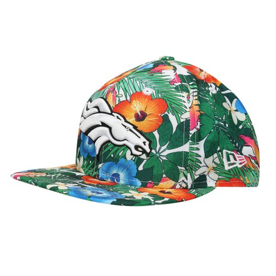Boné New Era NFL 950 Of Sn White Floral Denver Broncos - Branco+Verde 7ebb1077a36