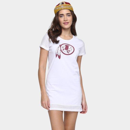 Vestido New Era NFL Mesh Washington Redskins - Branco - Compre Agora ... fdf920695d818