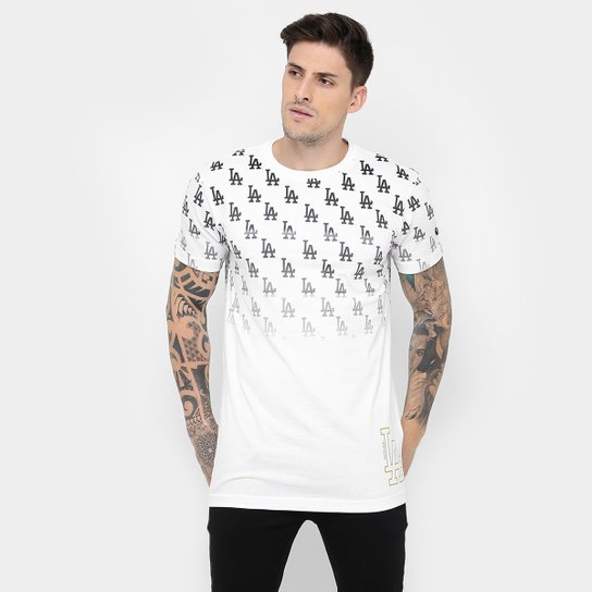 84f8ed89f08f1 Camiseta New Era MLB Full Print 38 Los Angeles Dodgers - Branco ...