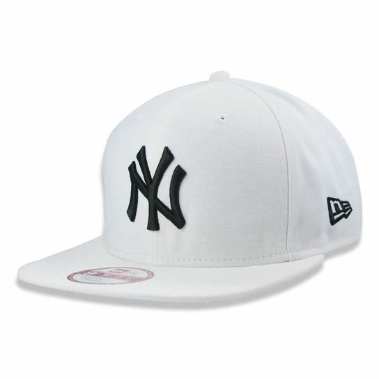f89951a3fdf6f Boné New York Yankees strapback MLB - New Era - Branco - Compre ...