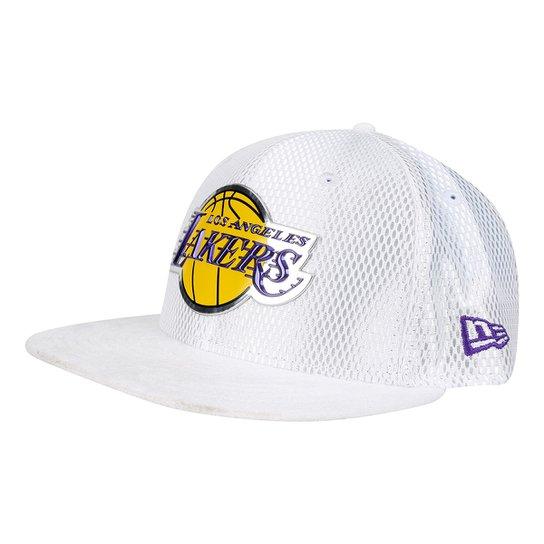 5e3442882f3bd Boné New Era NBA Los Angeles Lakers Aba Reta 950 Sn NBA 17 Onc Masculino -
