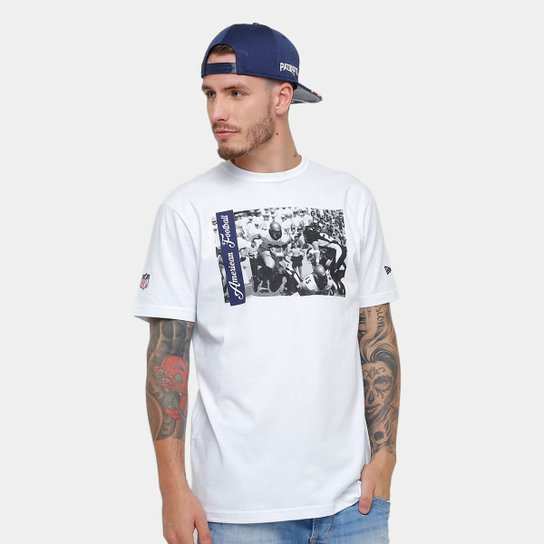 Camiseta New Era NFL New England Patriots Jogadores Masculina - Branco 374b9cc539266