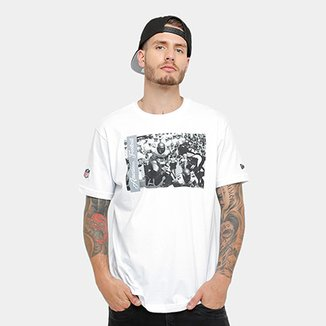 Camiseta New Era NFL Oakland Raiders Jogadores Masculina 534600702b409