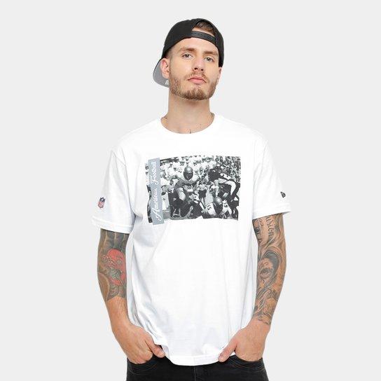 Camiseta New Era NFL Oakland Raiders Jogadores Masculina - Branco ... 2a45ce81b8a