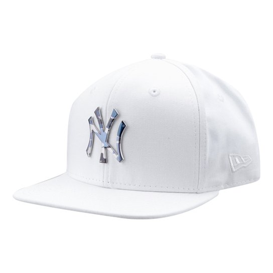 Boné New Era MLB New York Yankees Aba Reta 950 Of Sn Lic981 Su - Branco 685b6da3f6b