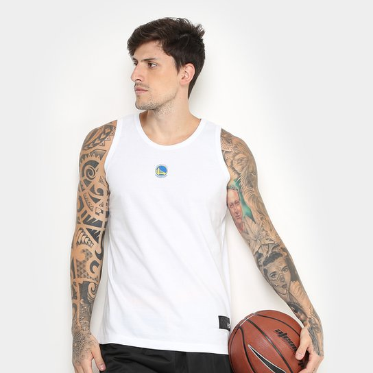 6723fdb63 Regata NBA Golden State Warriors New Era Camuflada Masculina - Branco