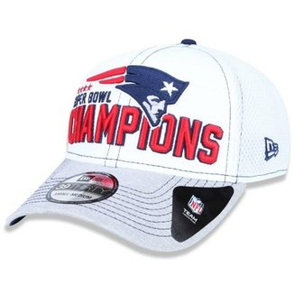 765456c6b86bf Boné New England Patriots 3930 5x Champion Branco - New Era