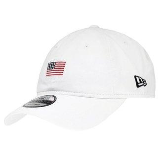 e269d35e20ae4 Boné New Era Aba Curva Strapback Mini Flag America