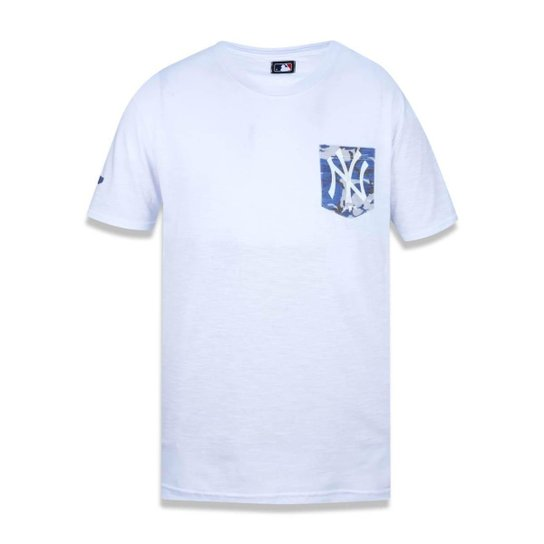 Camiseta New York Yankees MLB New Era Masculina - Branco - Compre ... 9a16aed7878a6