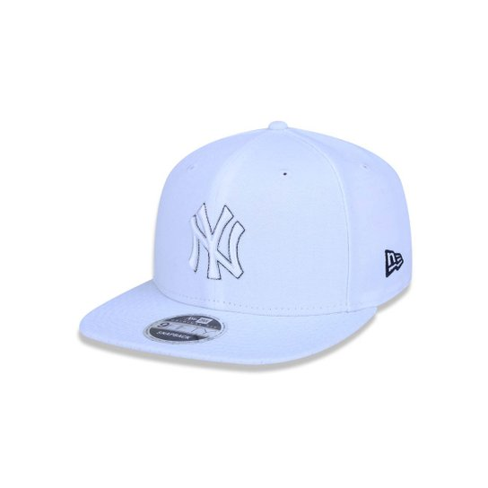 Boné 950 Original Fit New York Yankees MLB Aba Reta Snapback New Era -  Branco 133df5d72f6