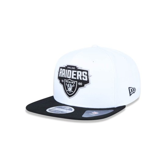 878c0b2f7c22a Boné 950 Original Fit Oakland Raiders NFL Aba Reta Snapback New Era - Branco