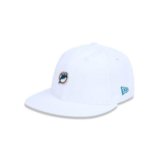 bc926f46097c4 Boné 950 Original Fit Miami Dolphins NFL Aba Reta Snapback New Era - Branco
