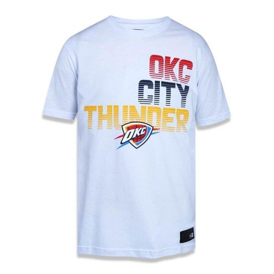 ec03d55c9 Camiseta Oklahoma City Thunder NBA New Era Masculina - Branco ...