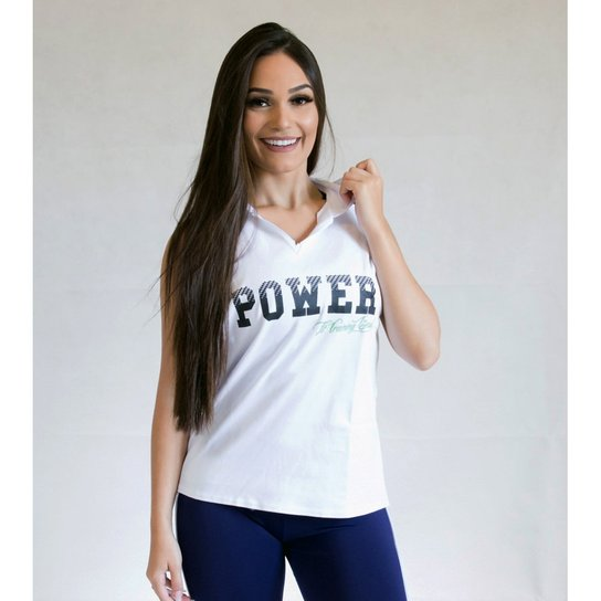 Camiseta Regata Fit Training Brasil C  Capuz Power Feminina - Branco ... ee58e4581fc