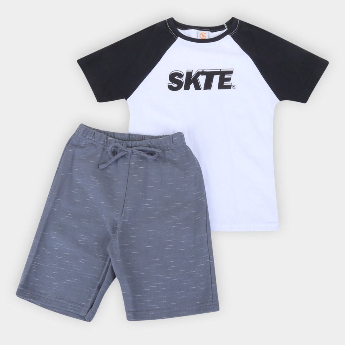 Conjunto Infantil Costão Camiseta Raglan E Bermuda Masculina