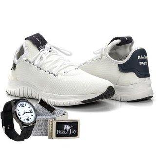 159351876e6d5 Kit Tênis Masculino Polo Joy Sport + Relógio E Cinto