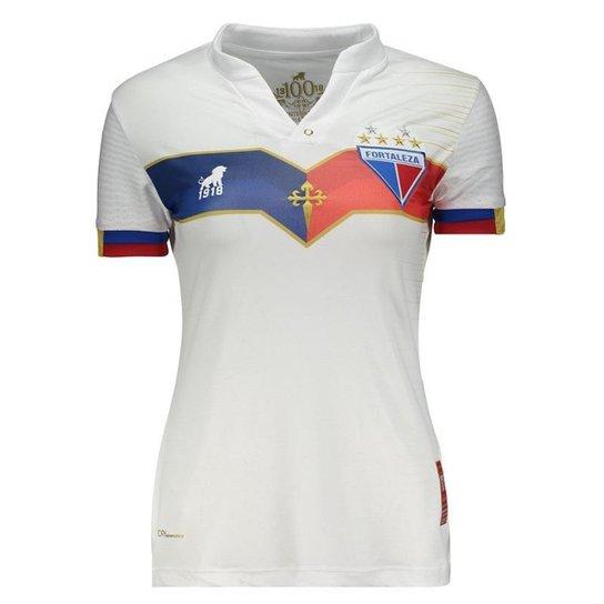 Camisa Leão 1918 Fortaleza III 2018 Centenário Feminina - Branco ... efc6aae1d3468