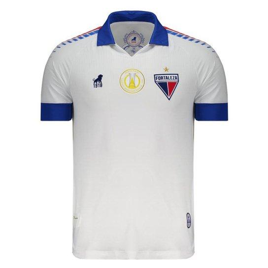 3c740ee19bde6 Camisa Leão 1918 Fortaleza II 2019 Masculina - Branco | Netshoes