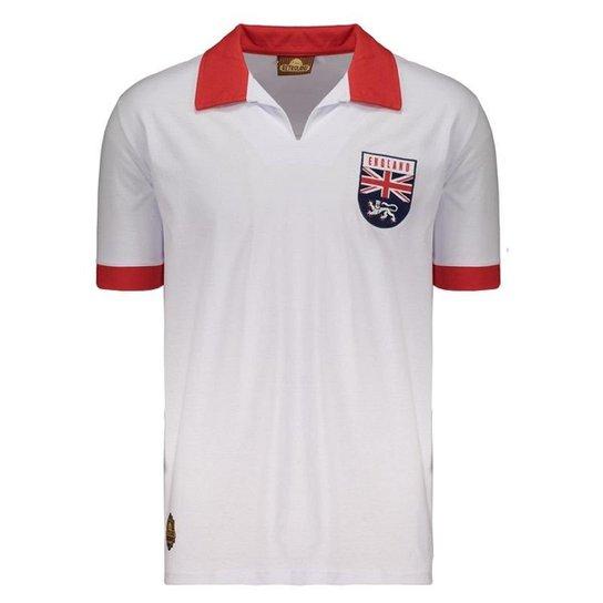 f8ccfca40d Camisa Inglaterra Retrô 1966 Masculina - Branco - Compre Agora ...