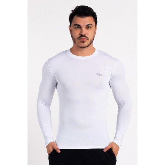 c9a612b95b Camiseta MProject Proteção Solar UV DRY Manga Longa Masculina - Branco