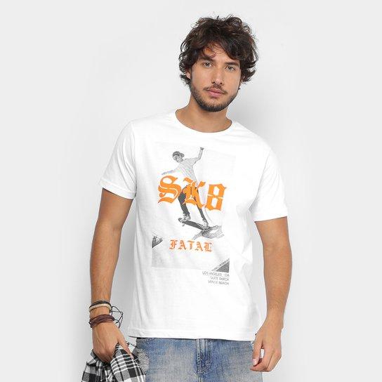 Camiseta Fatal Estampada Masculina - Branco - Compre Agora  8f24a5f089e