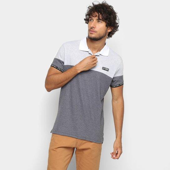 Camisa Polo Fatal Recorte Retilinea Masculina - Cinza - Compre Agora ... 178972e2ed62c