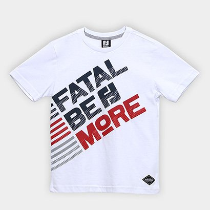 Camiseta Infantil Fatal Estampada Relevo Masculina