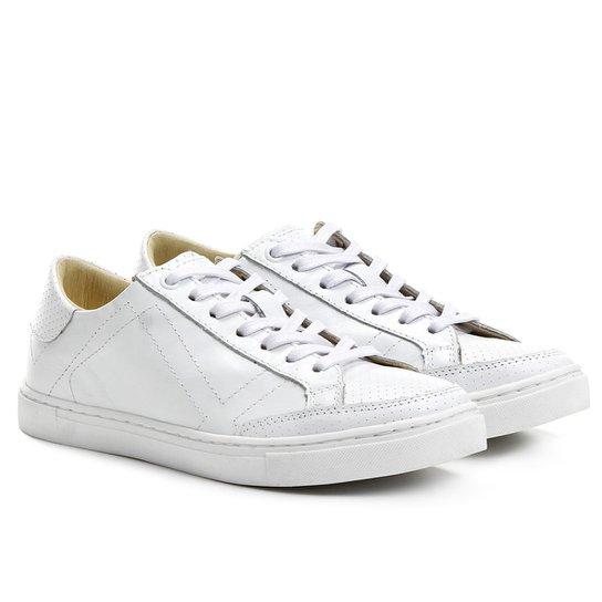 f5f748b090 Tênis Couro Hardcore Footwear Furadinho Feminino - Branco - Compre ...