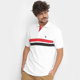 9186761cf1 Camisa Polo U.S.Polo Assn Mescla Listras Masculina