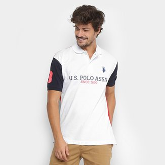 de72d02a14 Camisa Polo U.S.Polo Assn Piquet Estampada Masculina