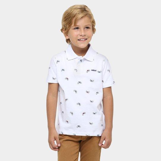 9a59afe6a Camisa Polo Colcci Fun Estampada Infantil - Compre Agora | Netshoes